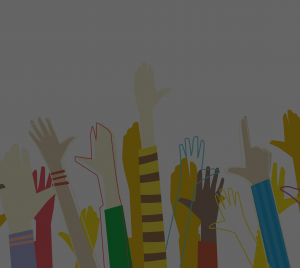 Diversity Dashboard hands in the air