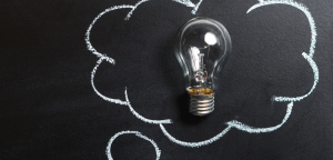 Idea Bubble with lightbulb