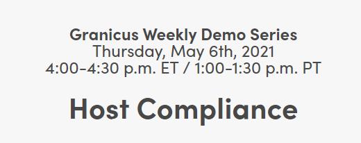 Host Compliance Webinar