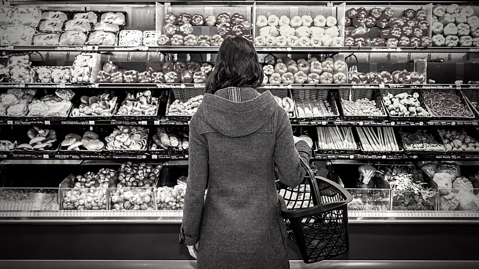 Woman in grocery store_shutterstock_The Public Square Is a Grocery Store