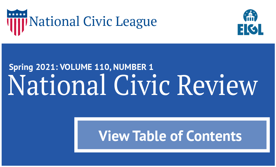 National Civic Review Header