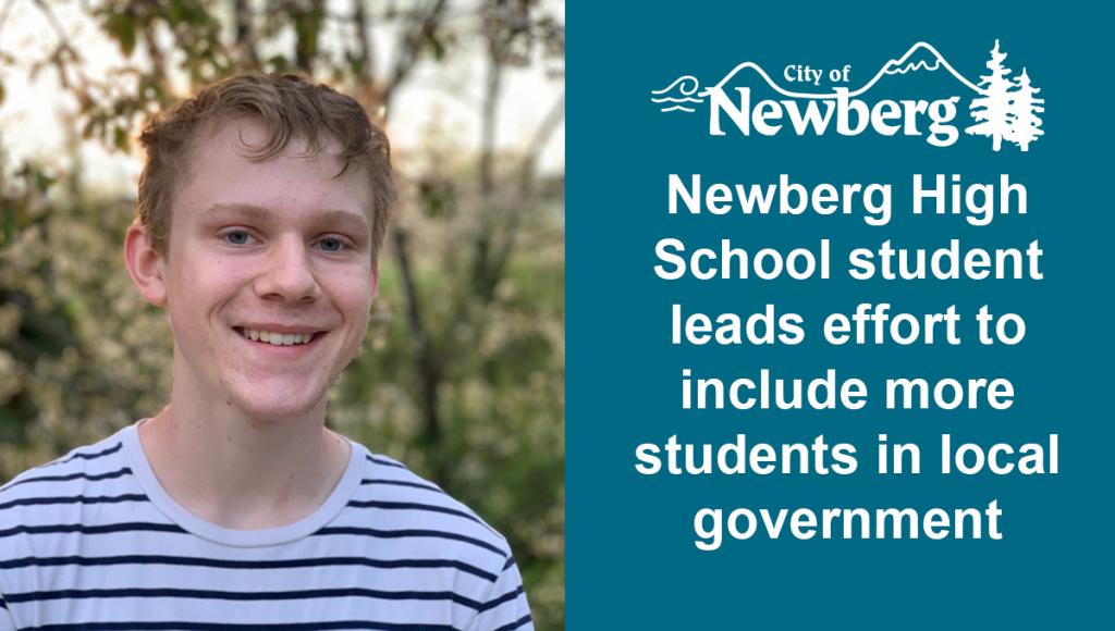 Newberg High School student Colin