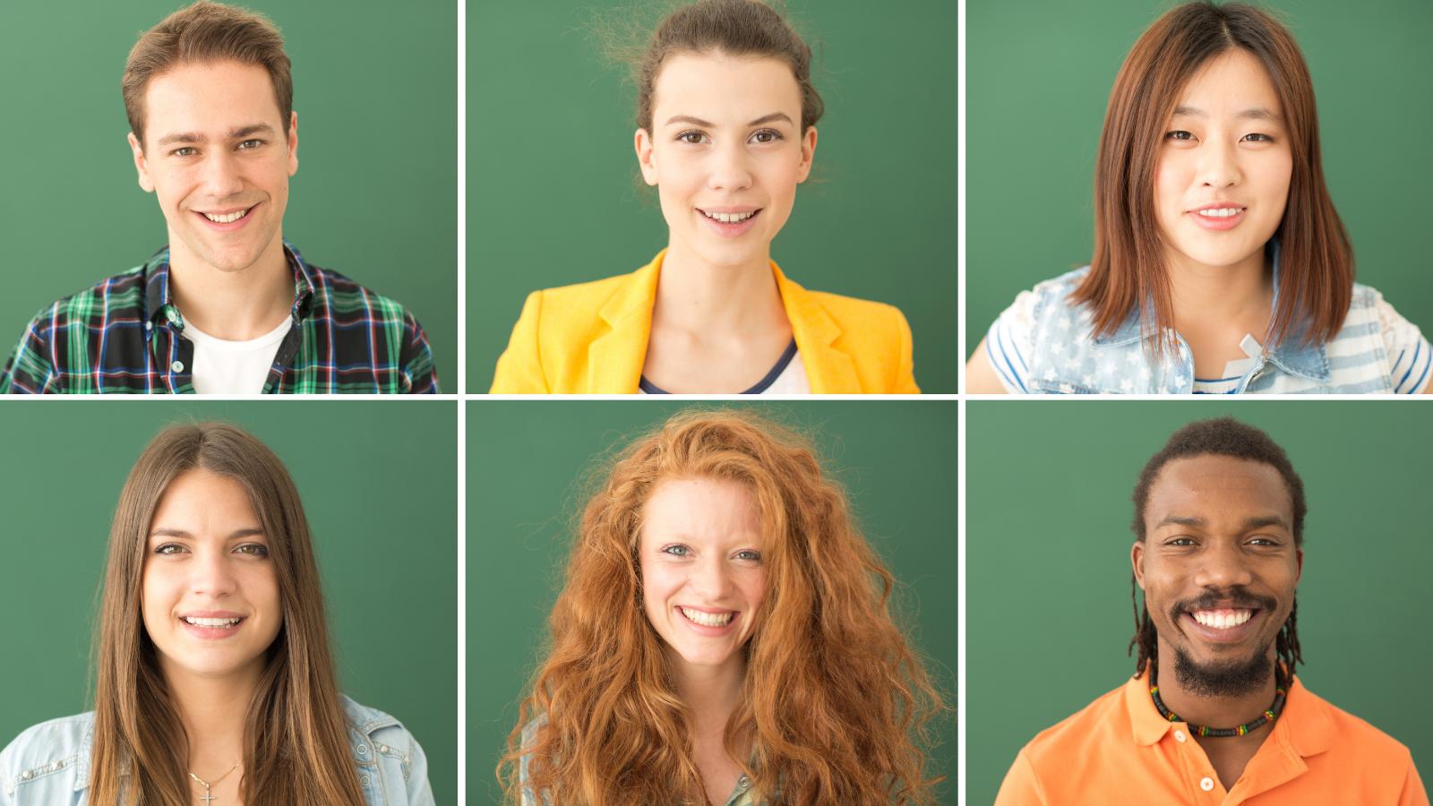 headshots of young people