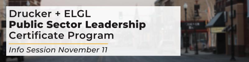 Drucker Info Session November 11