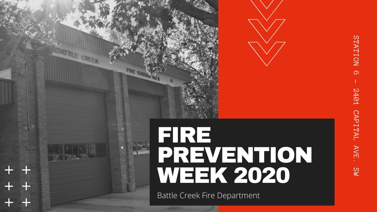 Graphic for Fire Prevention Week in Battle Creek, Michigan