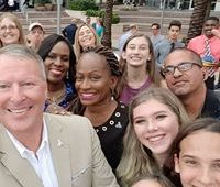 image of ELGL members participating in #CityHallSelfie Day
