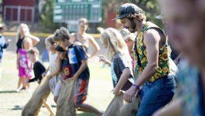 Town Picnic - Sack Race