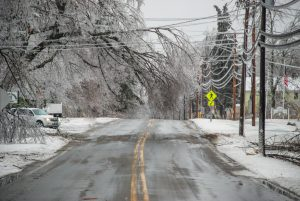 Main Street in Goshen after Ice Storm in 2008