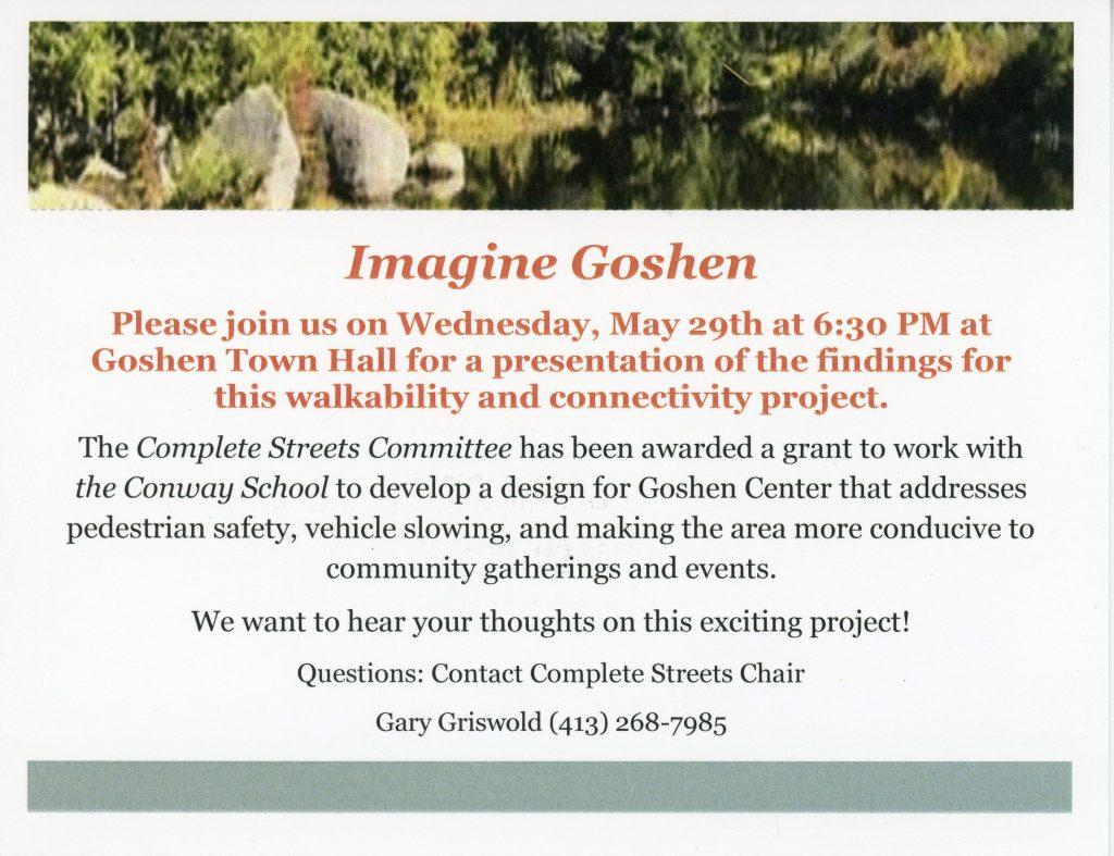 Imagine Goshen Post Card