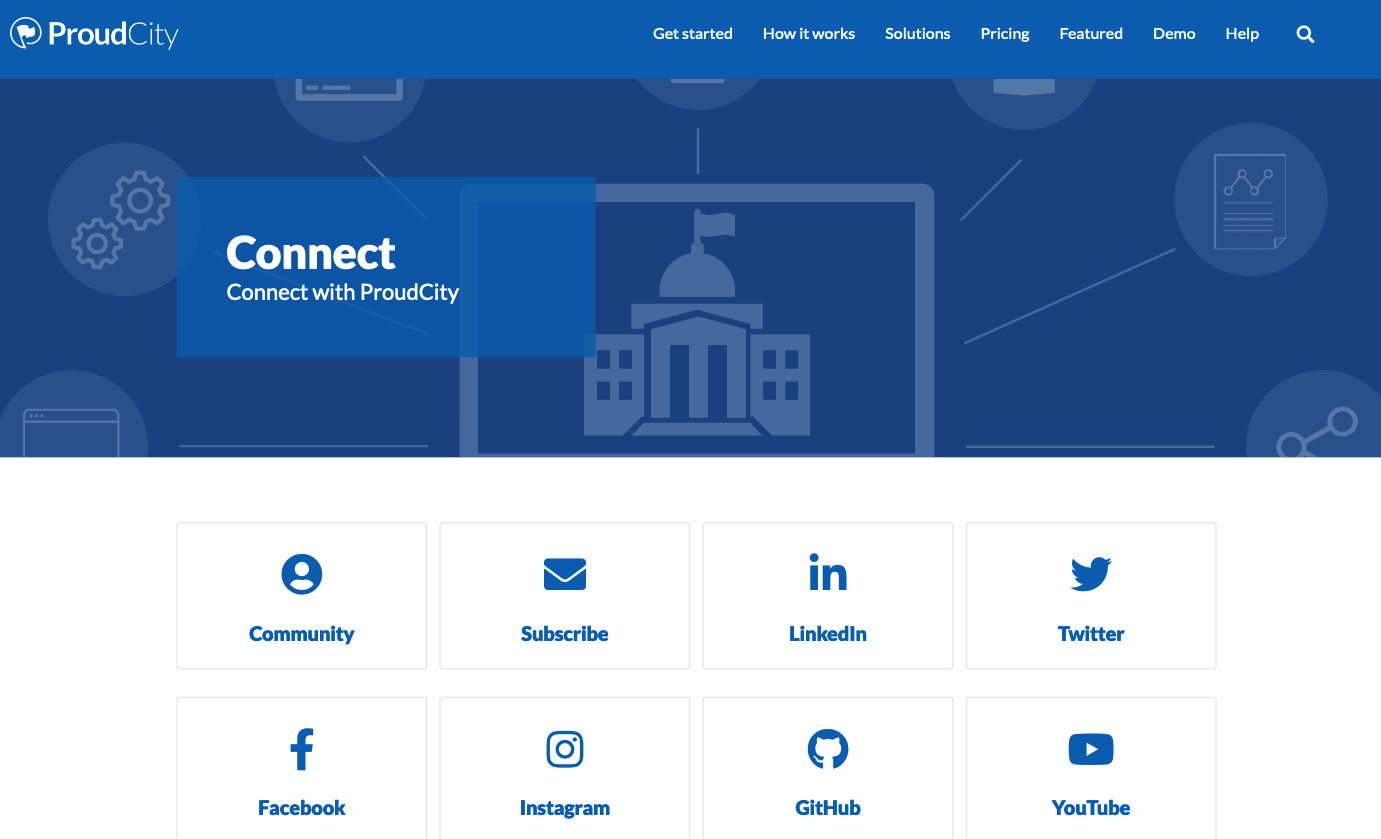 Connect page