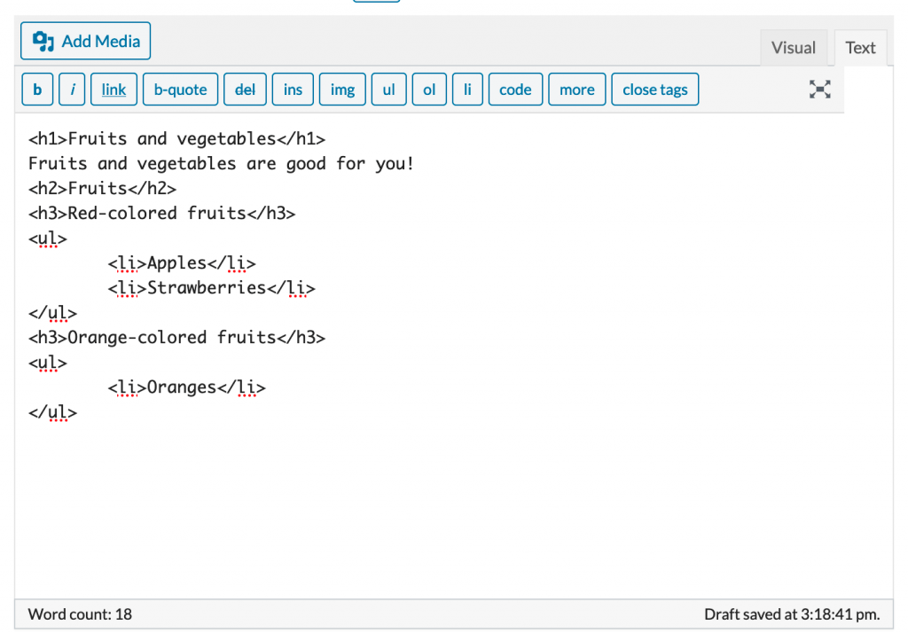 Structured content in the ProudCity text editor