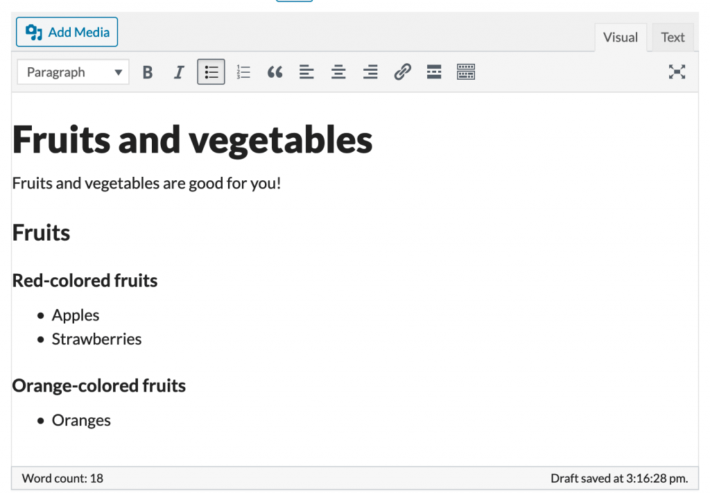 Structured content in the ProudCity visual editor