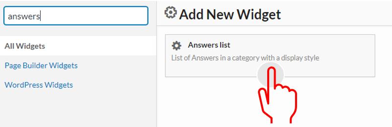 answers list widget