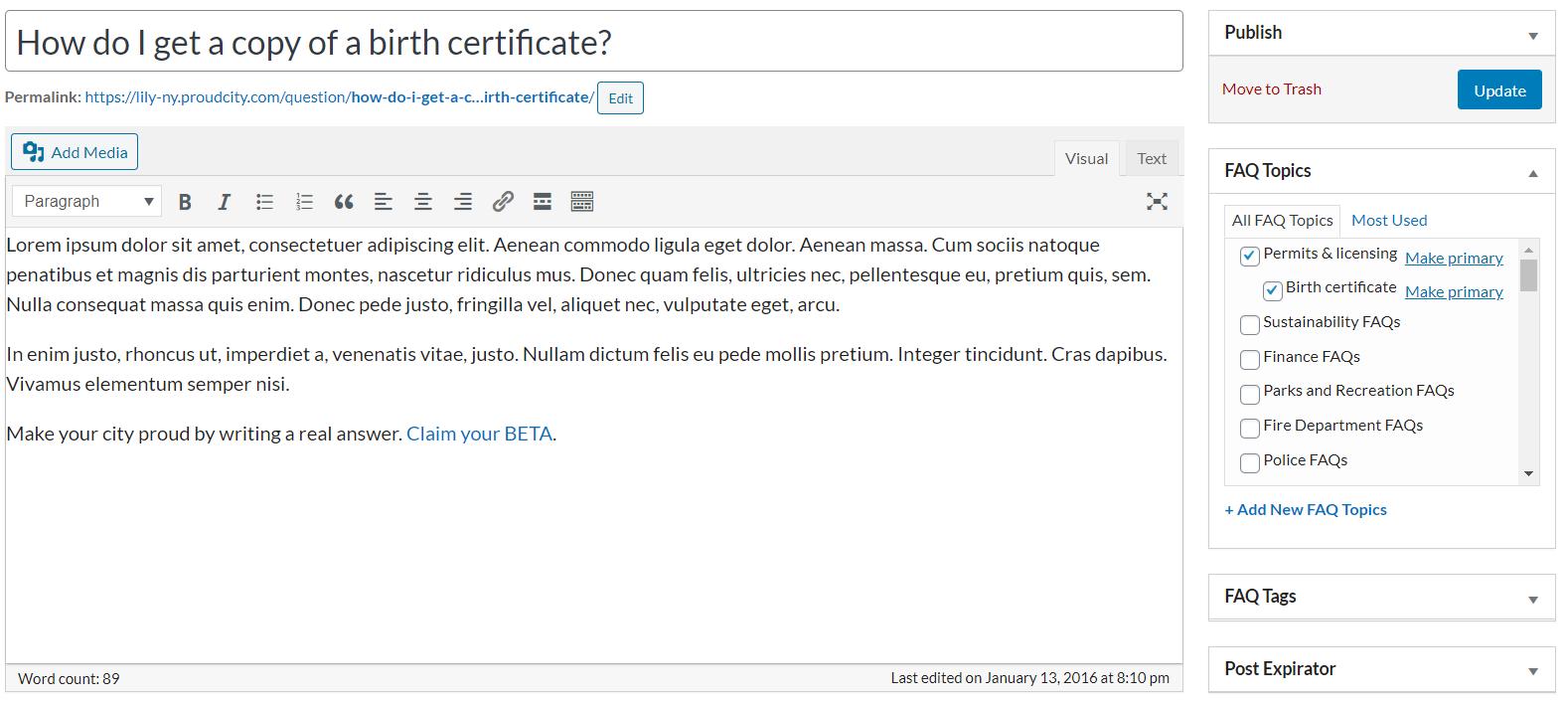 birth certificate question screen shot