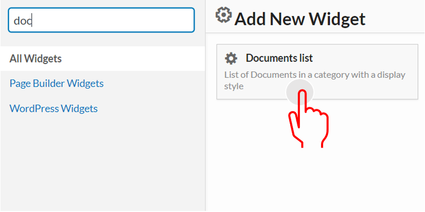 document list widget