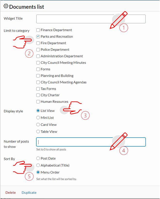 add document list
