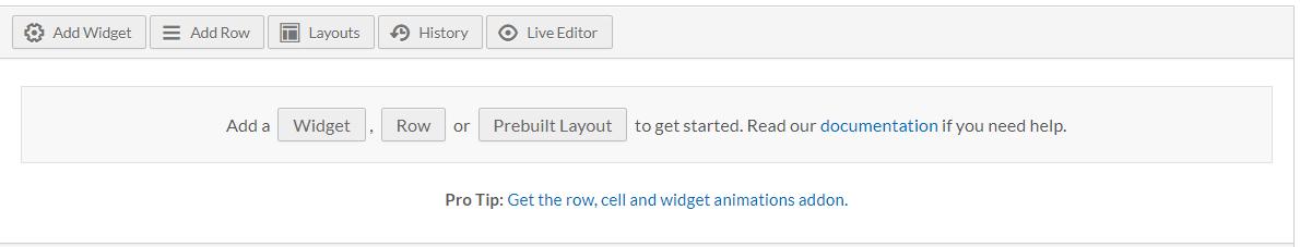 page builder menu