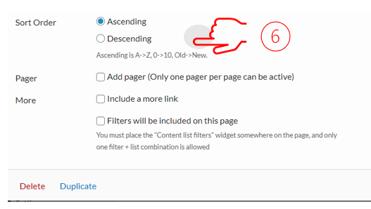 step 6 for the document list widget