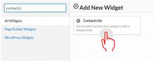 contact list widget
