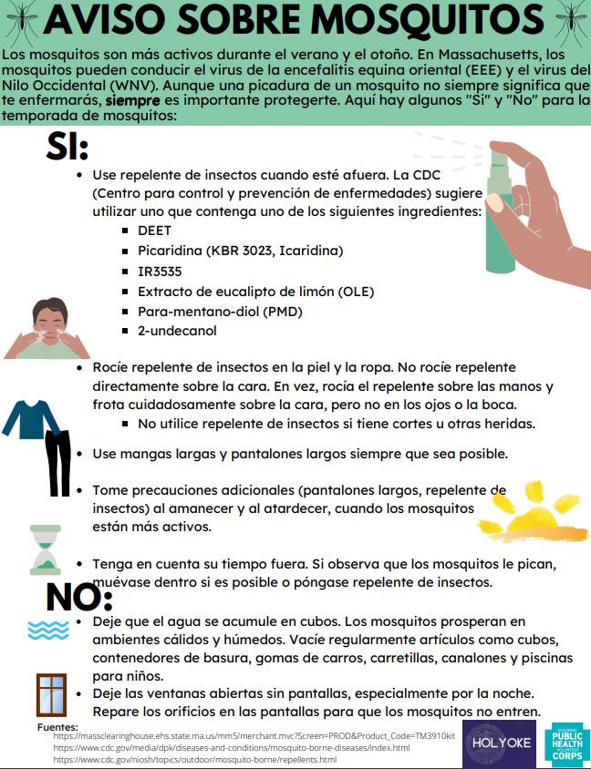 Mosquito Spanish Advisory