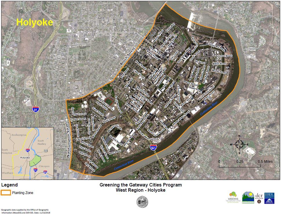 GGCP Holyoke Planting Zone Map
