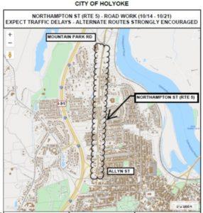 Northampton-St-Road-Work-map