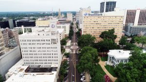 Aerial View of Downtown Jackson