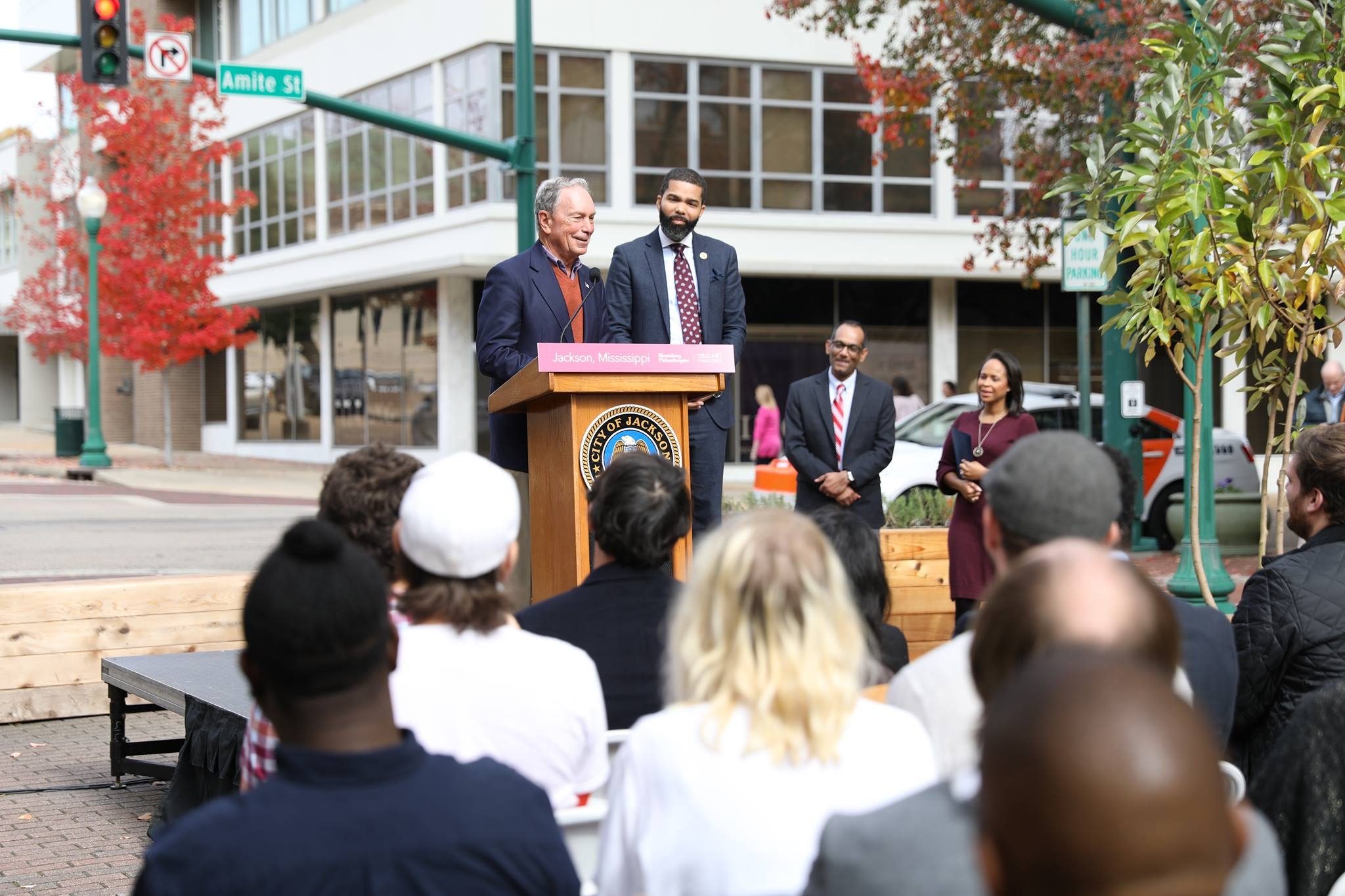 Fertile Ground Announcement with Mayor Chokwe Antar Lumumba and Michael Bloomberg