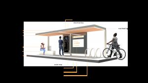 ONELINE Conceptual Transit Shelters