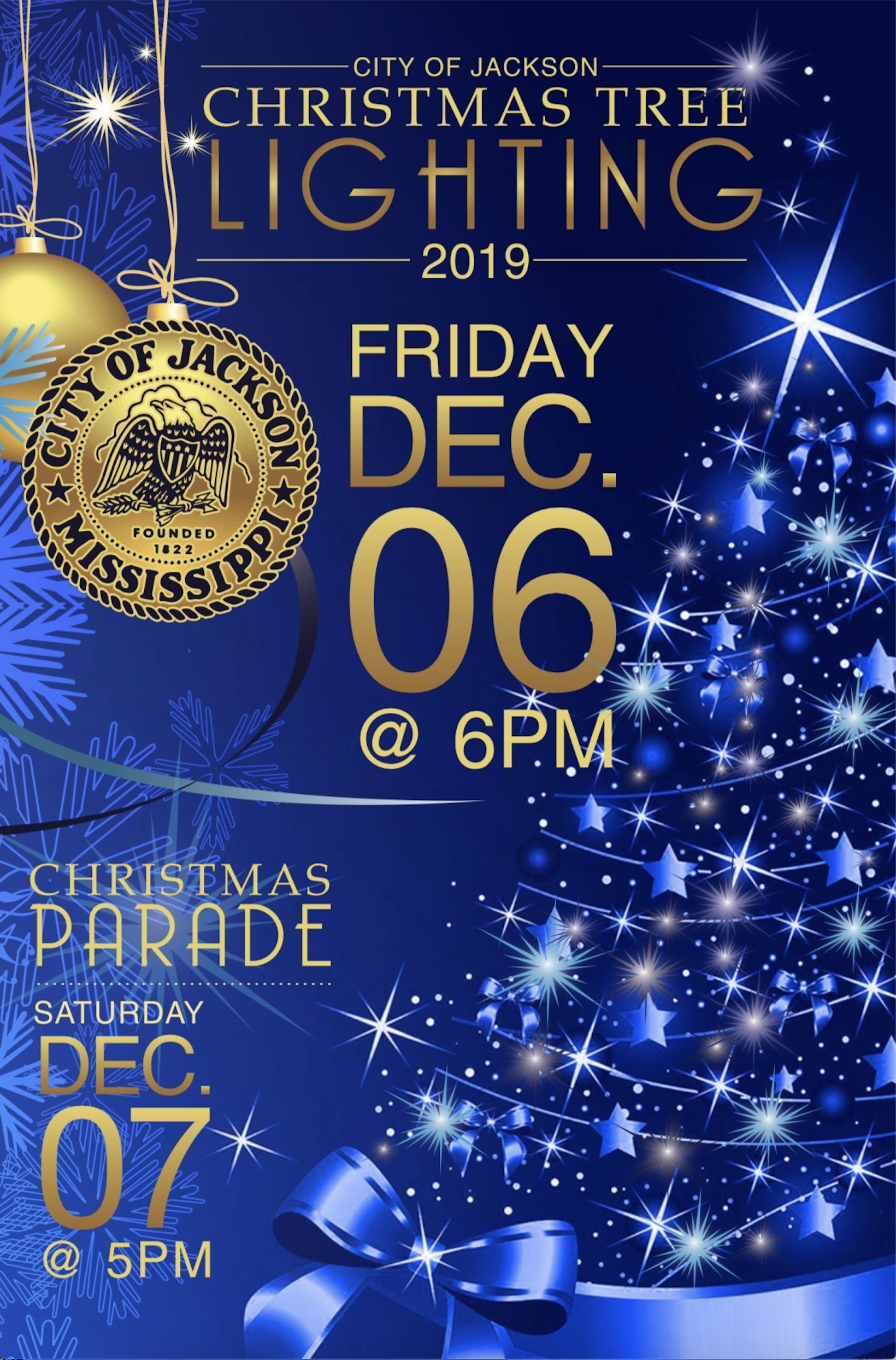 Christmas Parade Route 2020 Jackson Ms Press Release: City of Jackson to Host Annual Christmas Tree