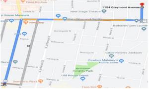 4B Detour Map