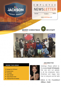 Page 1 Employee Newsletter Dec 2020