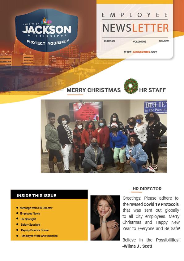 Page 1 Employee Newsletter Dec 2020