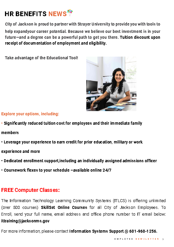 Page 3 Employee Newsletter March 2021