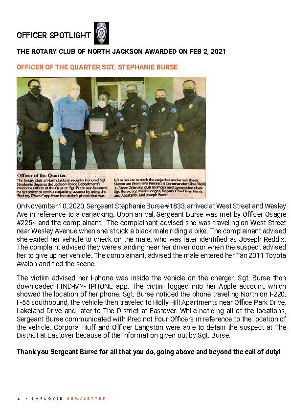 Page 5 Employee Newsletter March 2021