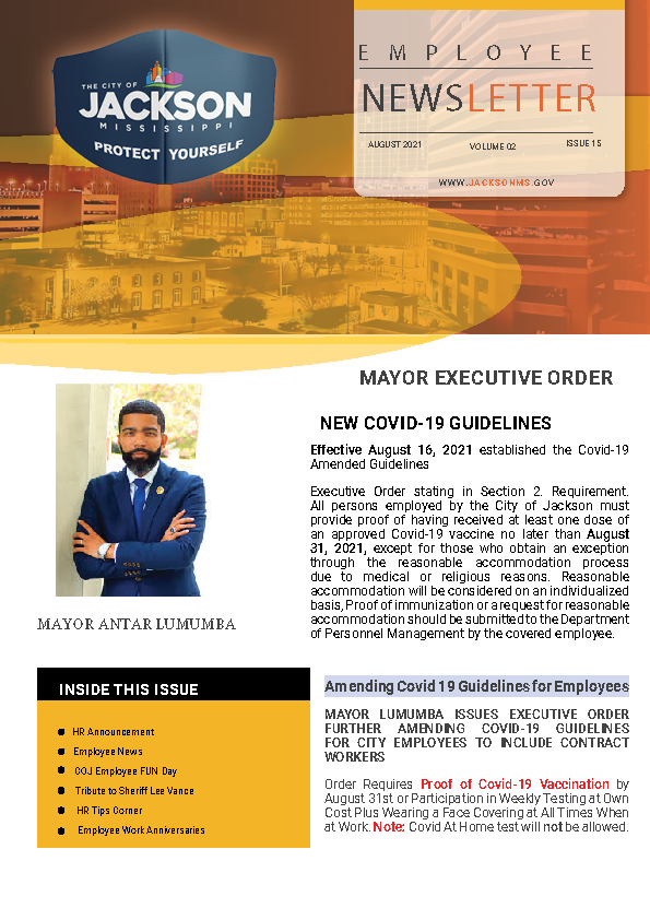 Page 1 Employee Newsletter August 2021