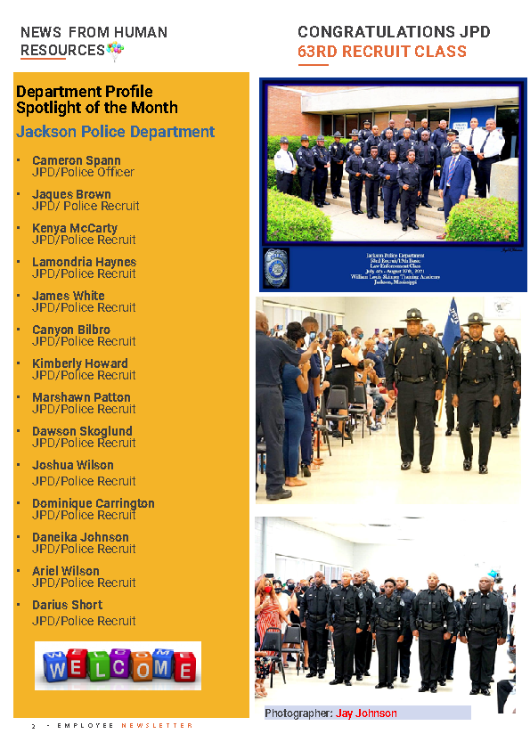 Page 2 Employee Newsletter Aug 2021