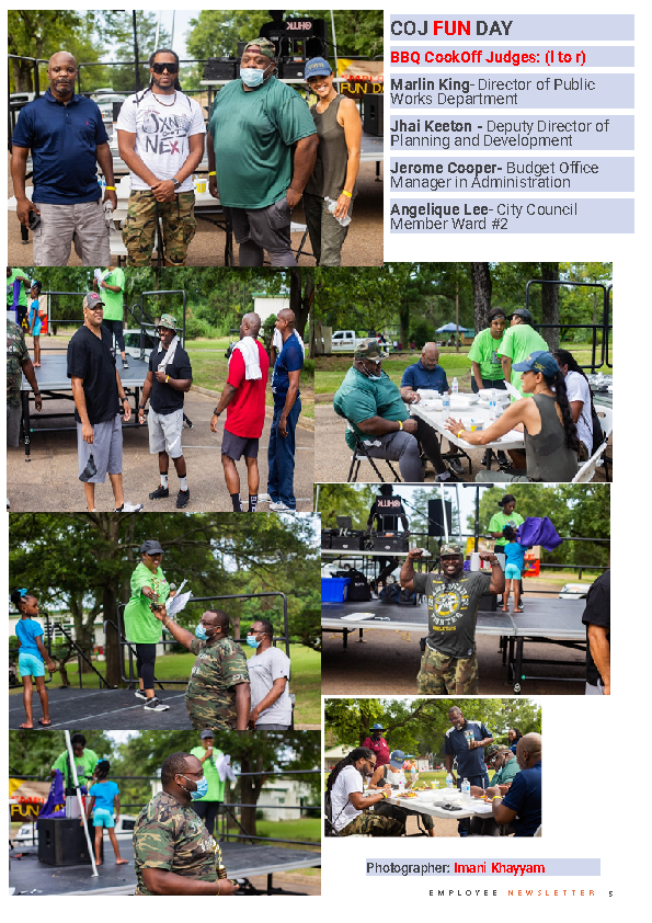 Page 5 Employee Newsletter Aug 2021