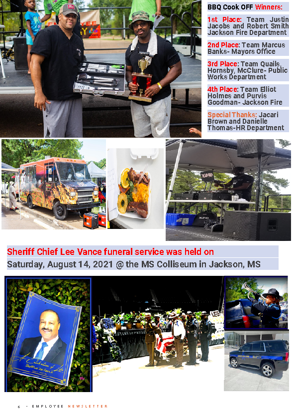Page 6 Employee Newsletter Aug 2021
