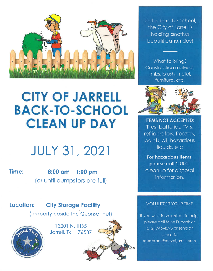 2021 Back-to-School Clean Up