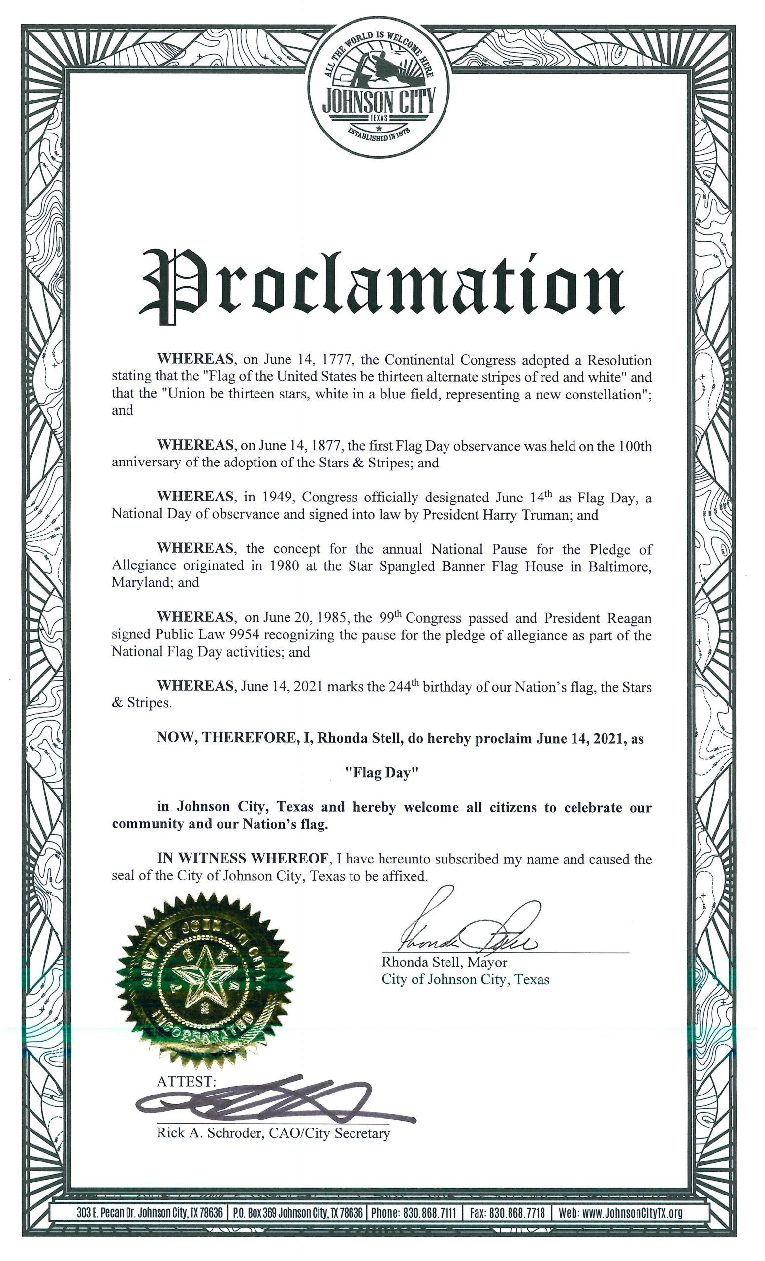 Flag Day Proclamation