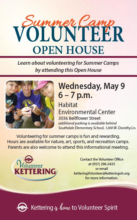 Summer Camp Volunteer Open House