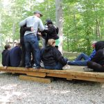 Kettering Leadership Academy participating in team building exercises at the retreat