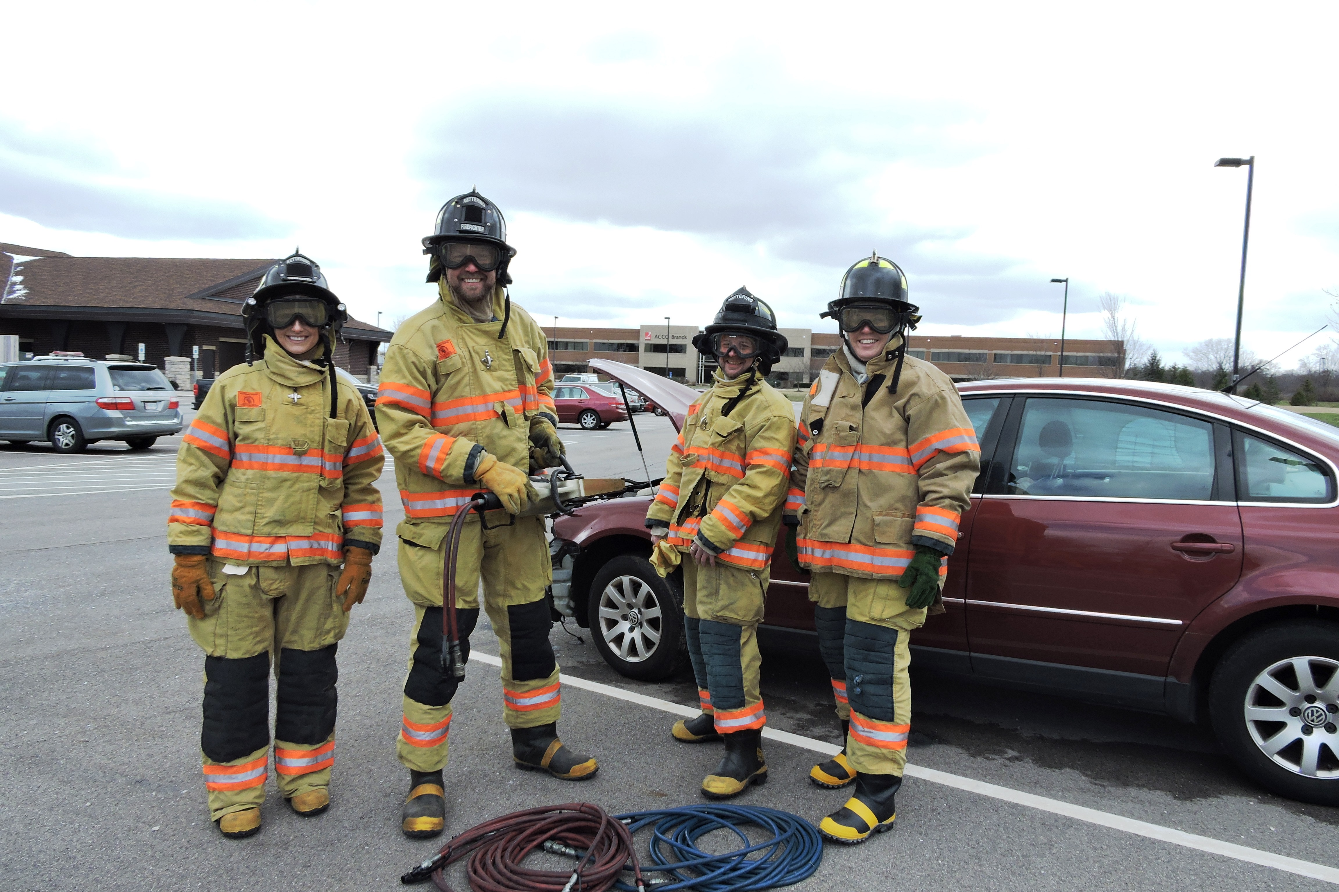 Kettering Leadership Academy during a Fire exercise on Public Safety Day