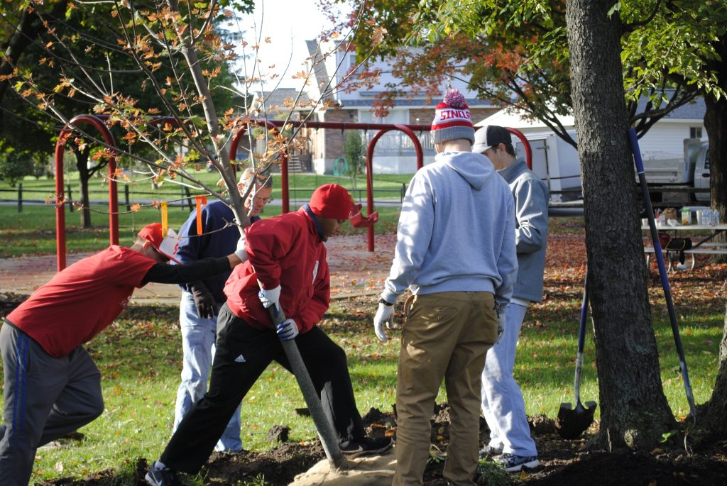 Make a Difference Day Tree Planting