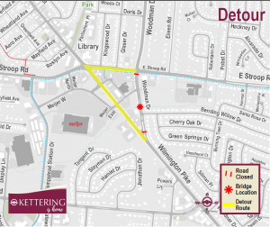 Map of Woodman Drive Detour