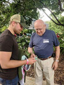 Fraze Volunteer Assisting a Patron