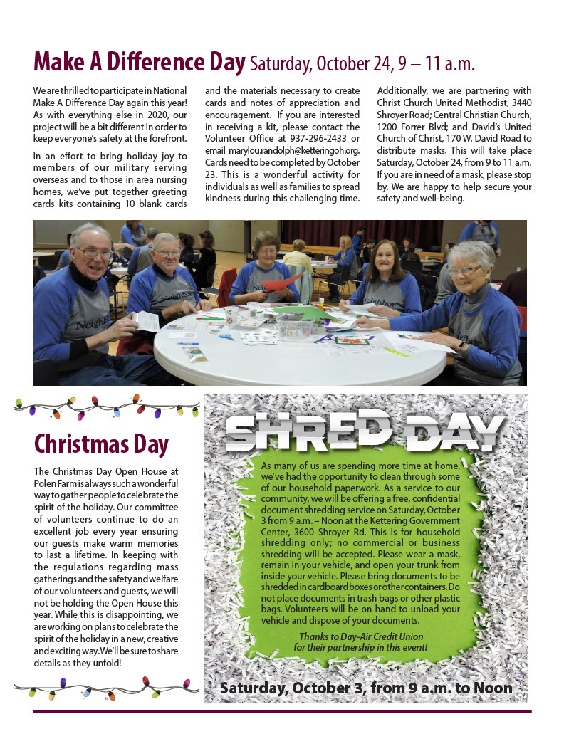 Fall Newsletter Page 2