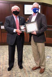 Bob Montavon with Mayor Don Patterson