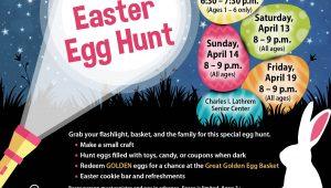 flashlight egg hunt poster